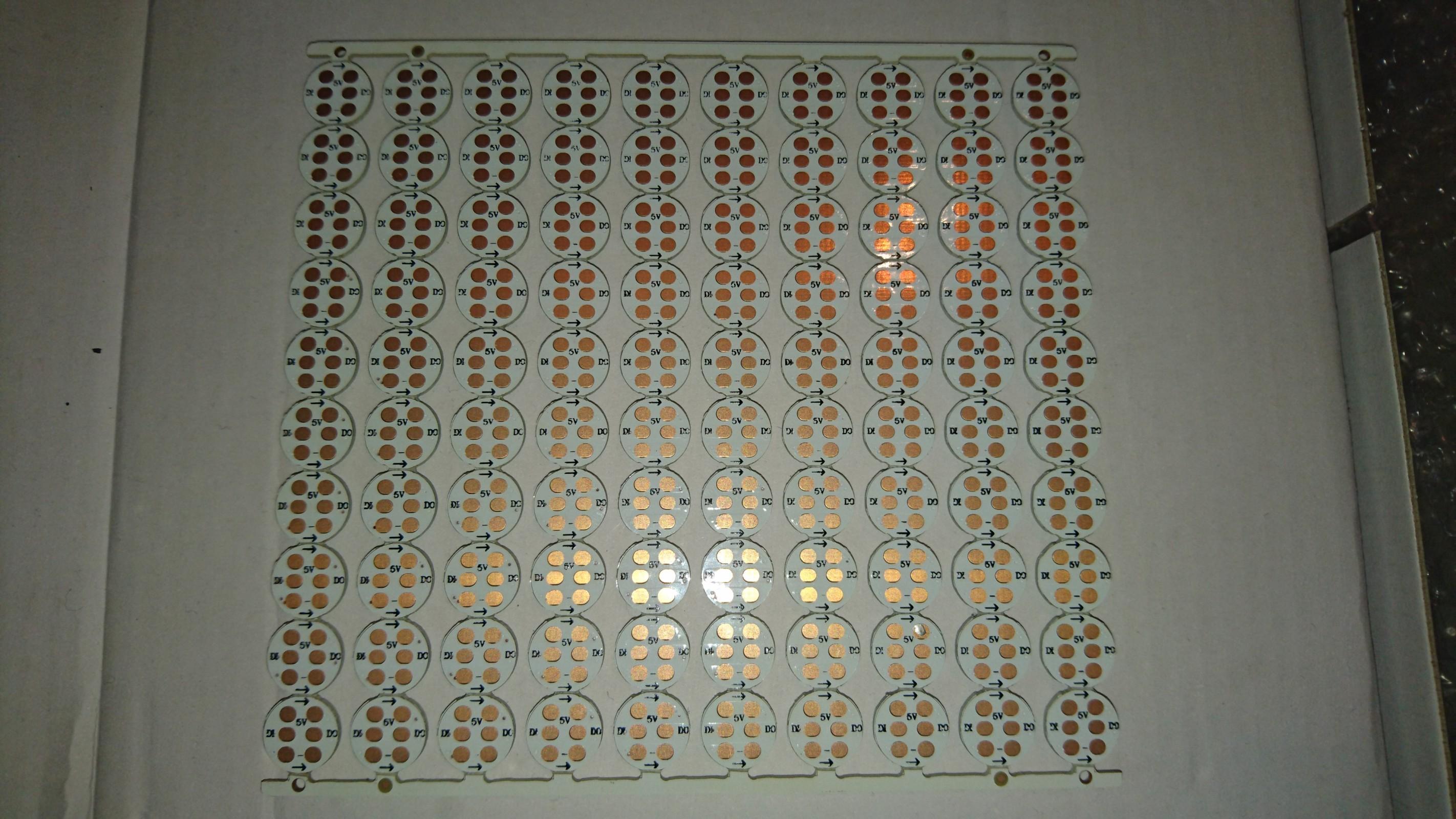 100 LEDs